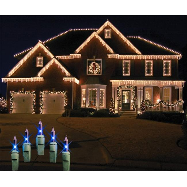 Winterland WL-IC100-B 6.5 in. Long Blue 100 Icicle Lights On Green Wire