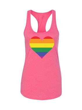 76ee7f5b Product Image Rainbow Heart Flag Women's Racerback Gay Pride Walk LGBT Shirt  Black Small. Zexpa Apparel