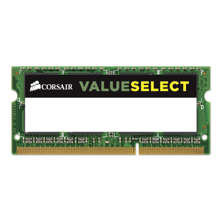 - Corsair 8GB (1x8GB) ValueSelect 204-Pin SO-DIMM DDR3L 1600 PC3L 12800 Laptop Memory Model CMSO8GX3M1C1600C11