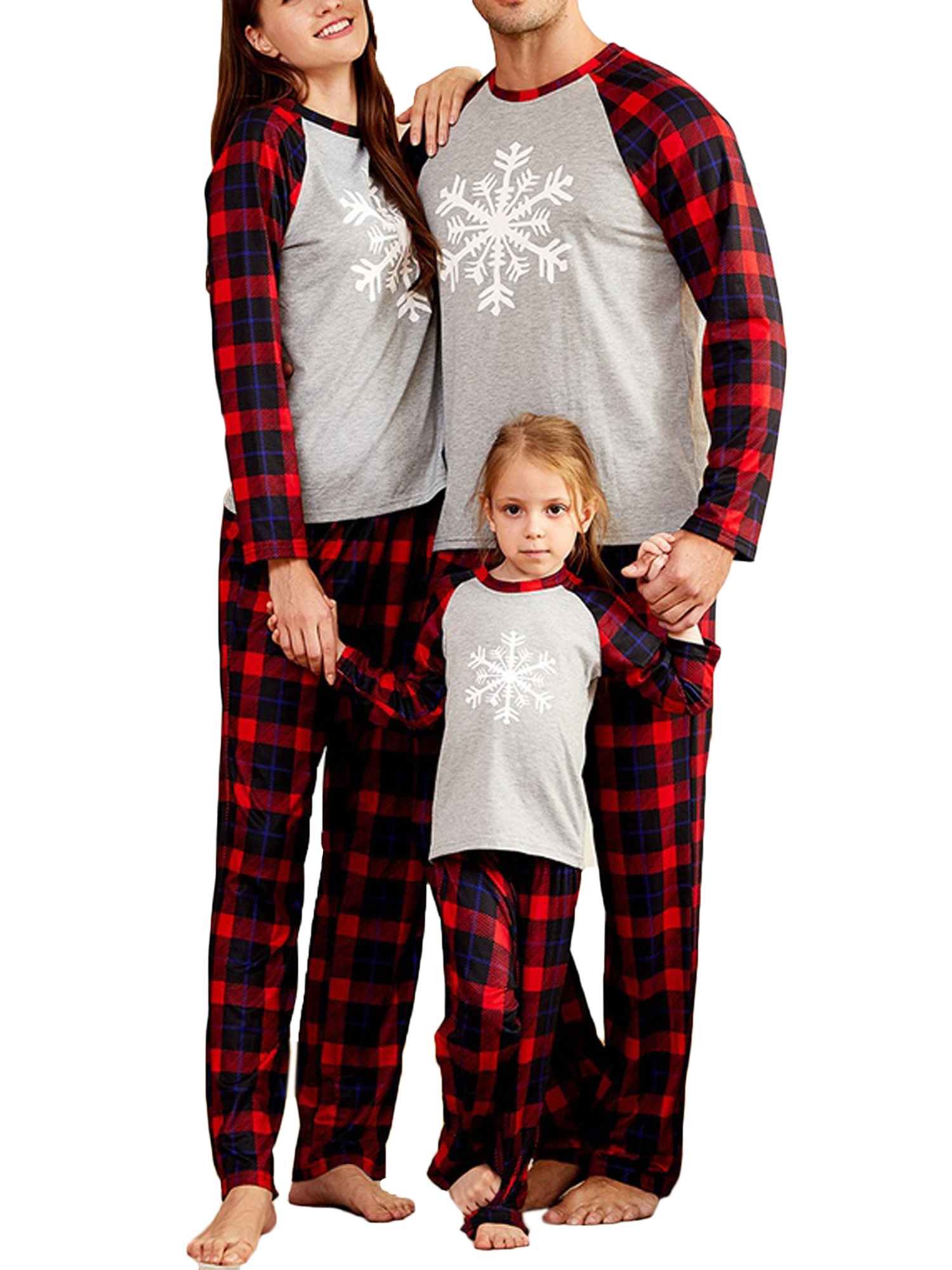 1-2Years, Kid 2020 Family Matching Pyjamas Set,Matching Christmas Pyjamas,for Family Women Men Kids Baby Red Plaid Santa Claus with a mask print Loungewear