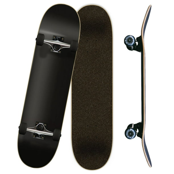 "Yocaher Blank 7.75"" Complete Skateboard - Stained Black"