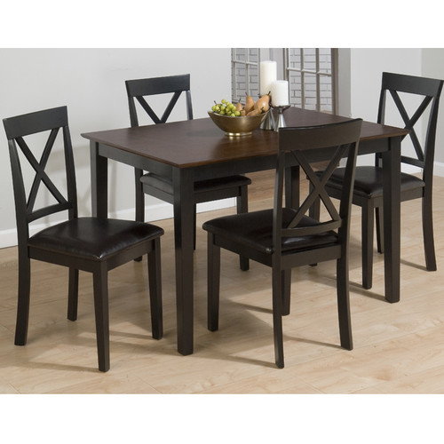 Jofran Burly 5 Piece Dining Table Set