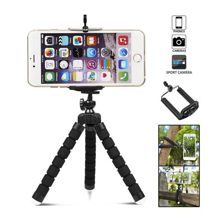 Phone Tripod, UHOMEPRO Portable Octopus Camera Stand Holder, 360° Rotating  Adjustable Tripod for iPhone, Android Phone, Camera, Sports Camera GoPro,