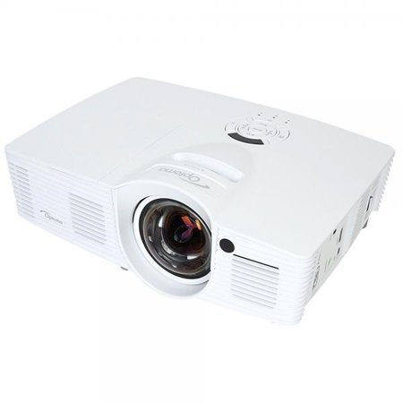 Optoma EH200ST Full 3D 1080p 3000 Lumen DLP Short Throw Projector with 20,000:1 Contrast Ratio and MHL Enabled HDMI