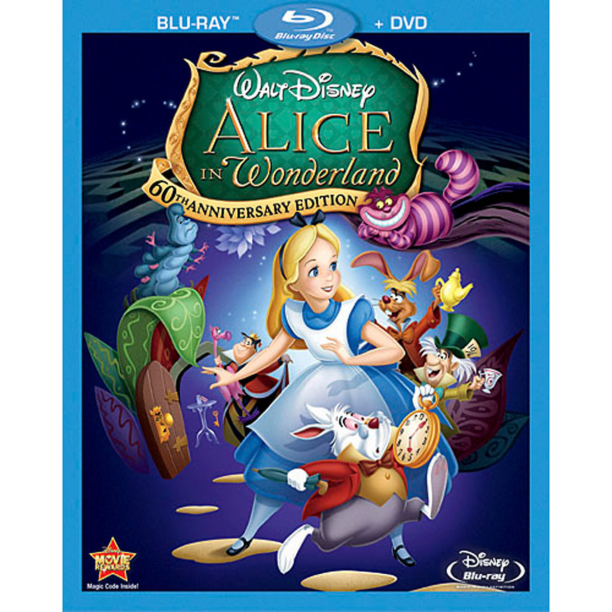 Alice in Wonderland (1951) (60th Anniversary Edition) (Blu-ray + DVD) by DISNEY/BUENA VISTA HOME VIDEO
