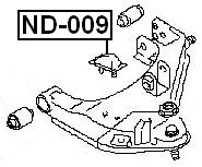 Febest Nd 009 Front Bumper Spring Nissan Cabstar F24m 2006 Oem