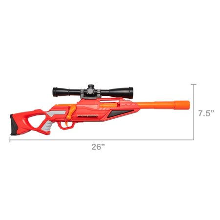 Adventure Force Alpha Rogue Blaster with Scope, Rail Adapter and Darts