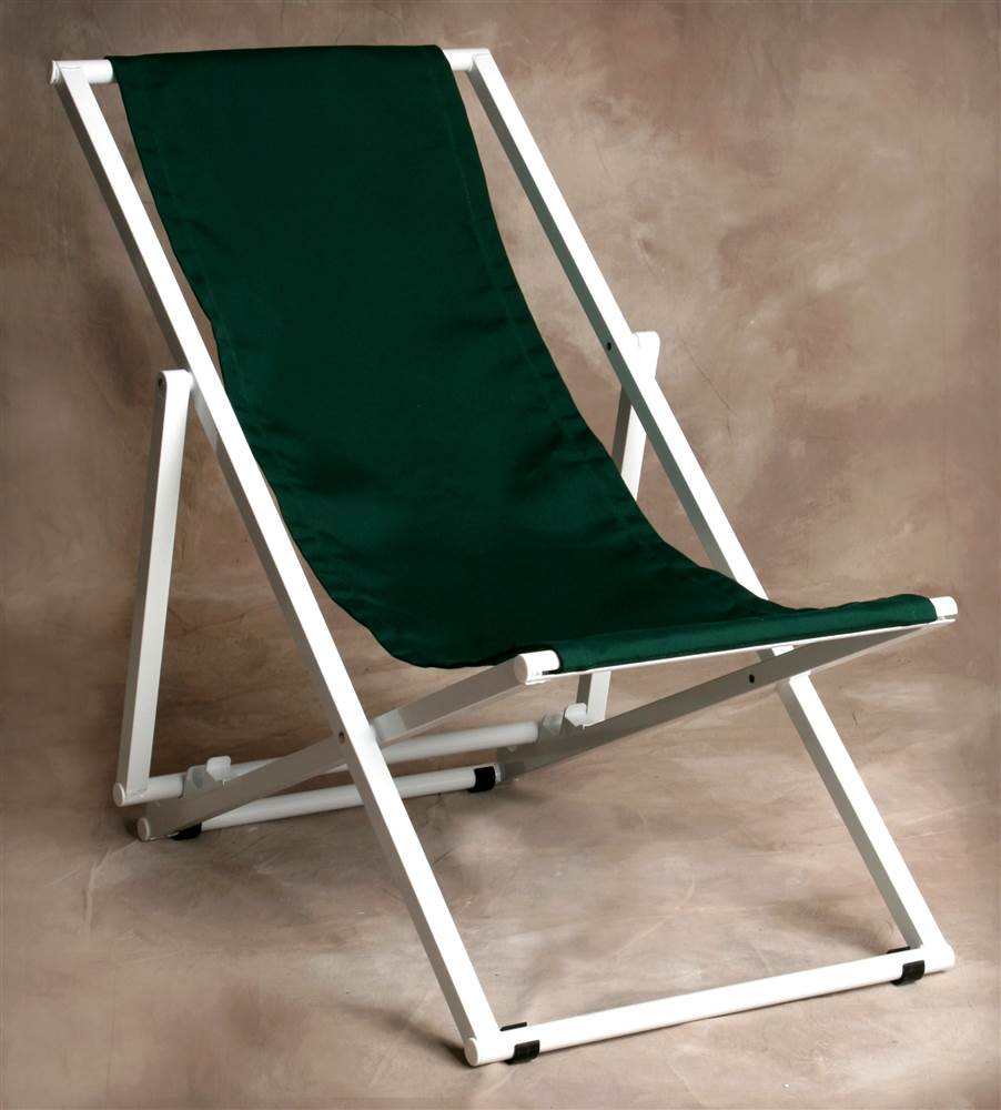 Multi-Position Key West Lounge Chair in Forest Green
