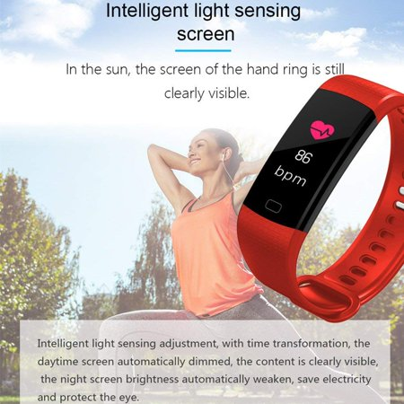 Fitness Tracker with Heart Rate Monitor Color Screen Waterproof Smart Watch Band Activity Tracker w/ Step Counter Pedometer Calorie Counter for Android iOS - image 3 of 13