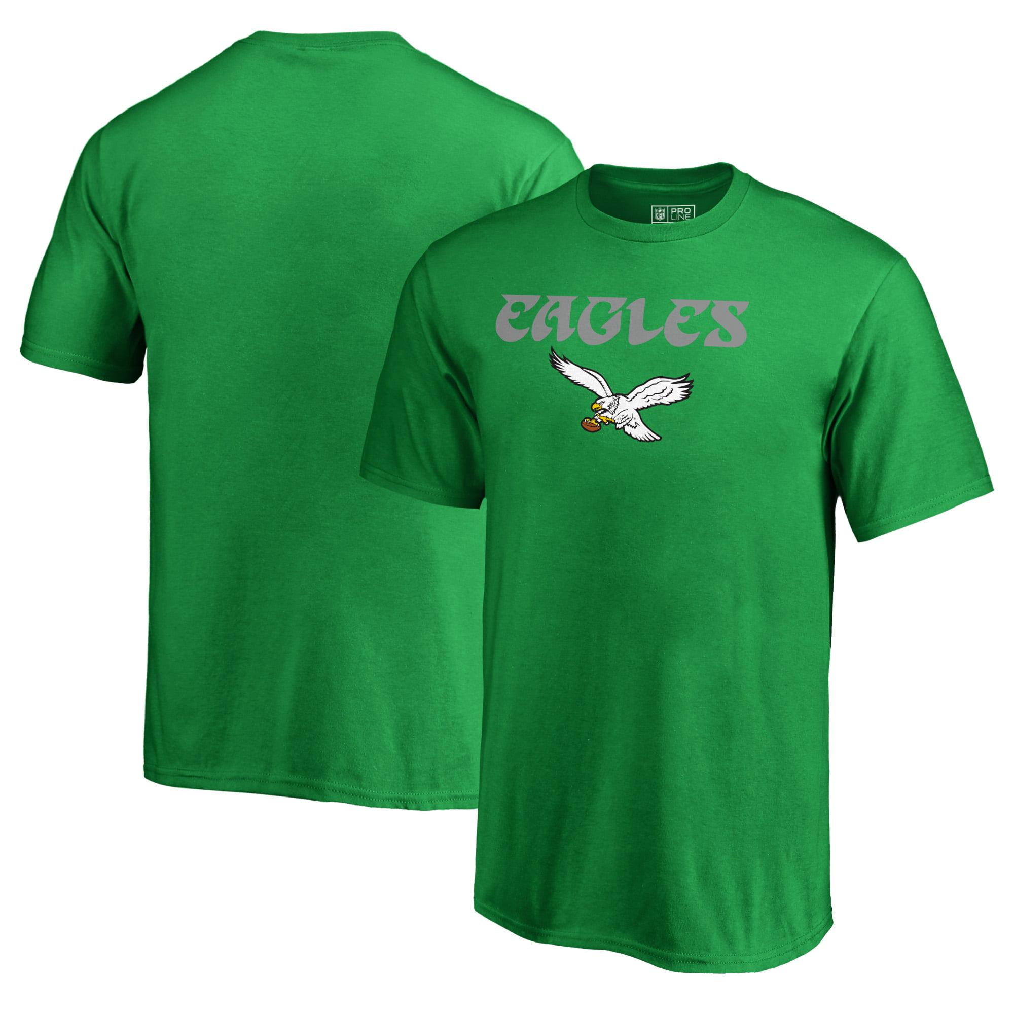 Philadelphia Eagles NFL Pro Line by Fanatics Branded Youth Vintage Team Lockup T-Shirt - Kelly Green