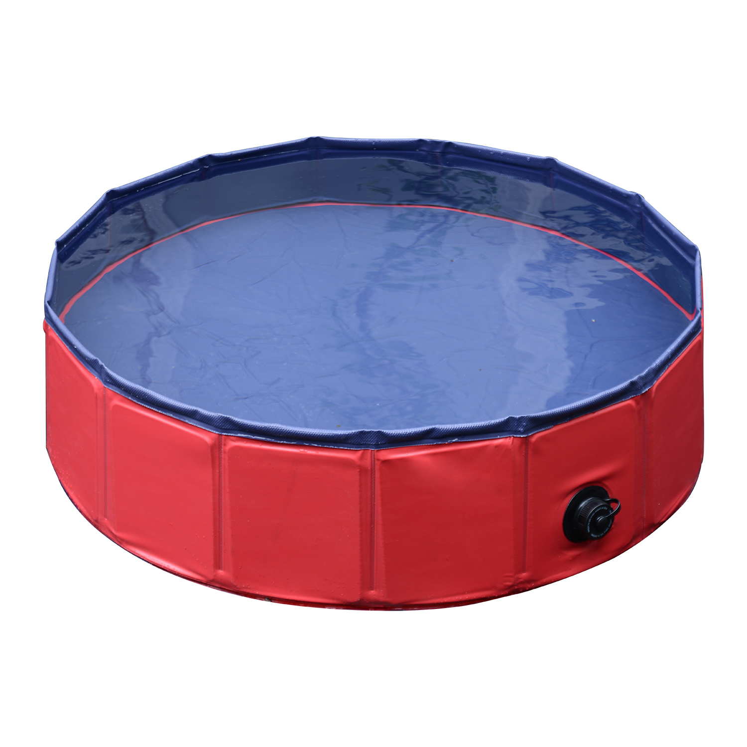 Pawhut 12 x 47 Foldable PVC Pet Swimming Pool Red and Blue by Aosom