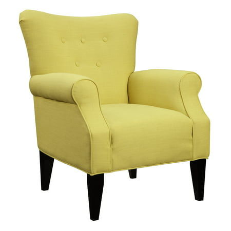 - Emerald Home Lydia Citrine Accent Chair with Button Tufting And Roll Arms