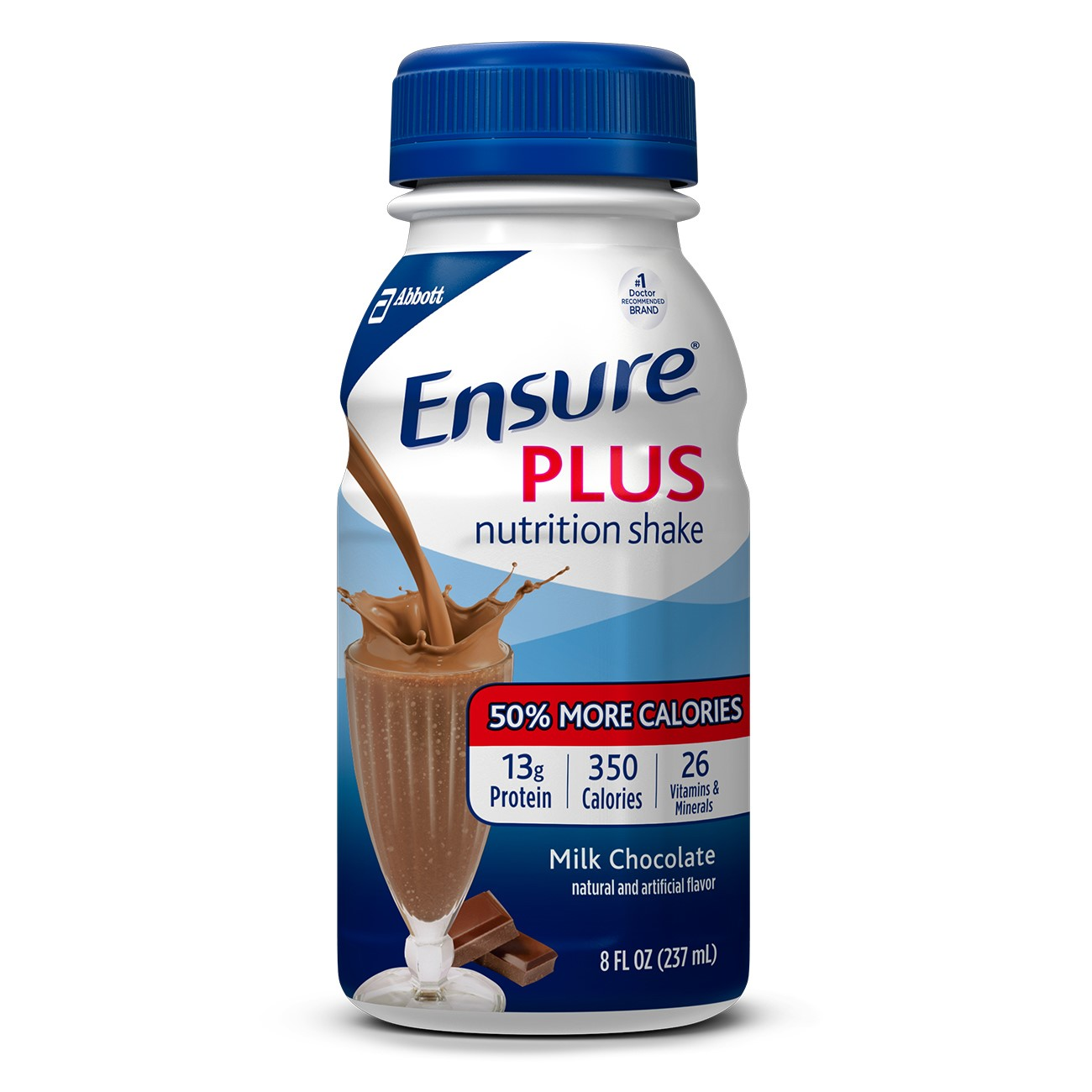 Ensure Plus Nutrition Shake Milk Chocolate with 13 grams of protein, Meal Replacement Shakes, 8 Fl oz Bottles, 16 Ct