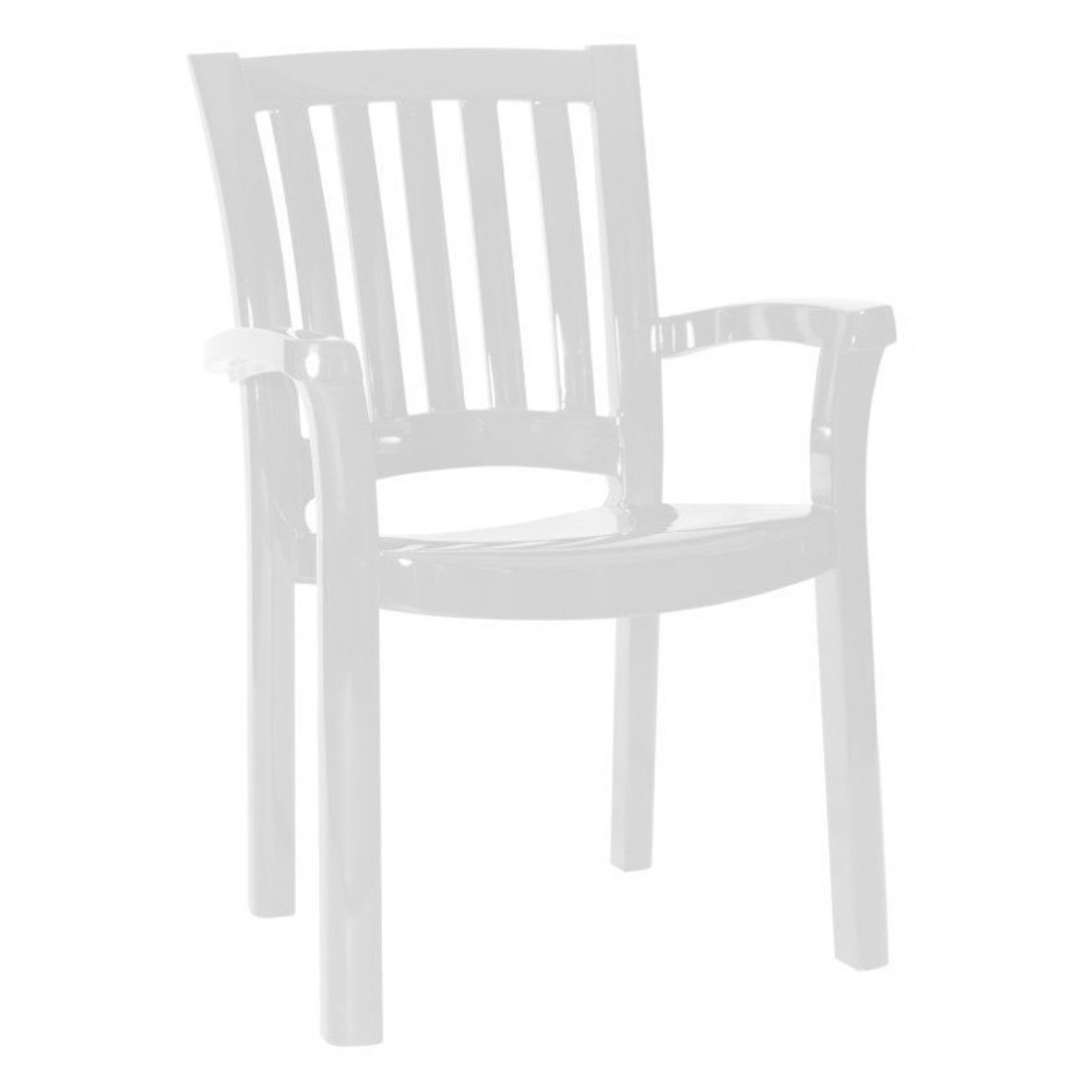 Compamia ISP015-WHI Sunshine Resin Dining Armchair Set of 4 by Compamia