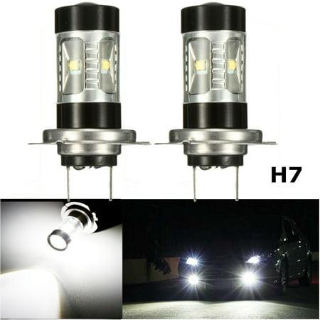 2x 60W White LED Daytime Headlight Fog Light led Bulb 9005