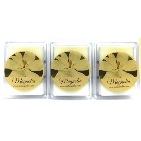 COMBO Set of 3 Packs of Magnolia 3.2 Ounce Pack of Soy Wax Tarts (6 Cubes Per Pack)- Scent Brick, Wickless