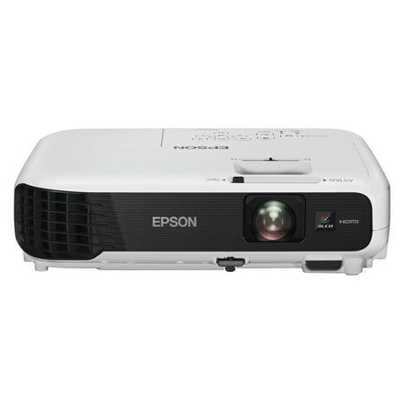 Epson VS240 SVGA 3LCD Projector, 3000 Lumens, 800 x 600 Pixels, 1.35x Zoom
