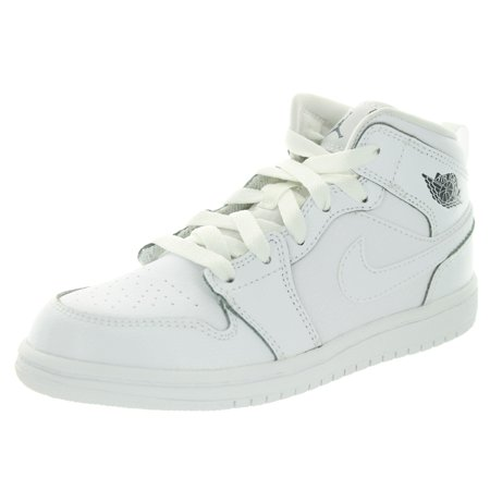 separation shoes e98c7 1da02 Nike Jordan Kids Jordan 1 Mid BP Basketball Shoe - Walmart.com