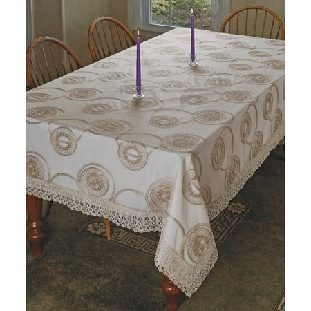 Astoria Grand Laurence Marvellous Lace with Embroidered Scroll (Grand Scroll)