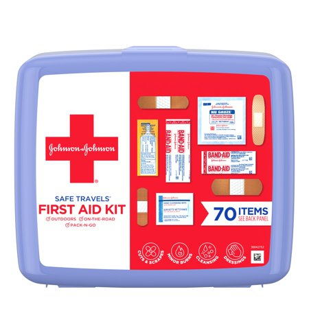 Johnson & Johnson Red Cross Portable Travel First Aid