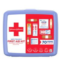 Johnson & Johnson Safe Travels Portable Emergency First Aid Kit, 70 pc