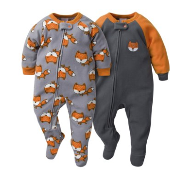 Gerber - Gerber Toddler Boys Microfleece Blanket Sleeper Pajamas, 2-Pack -  Walmart.com - Walmart.com