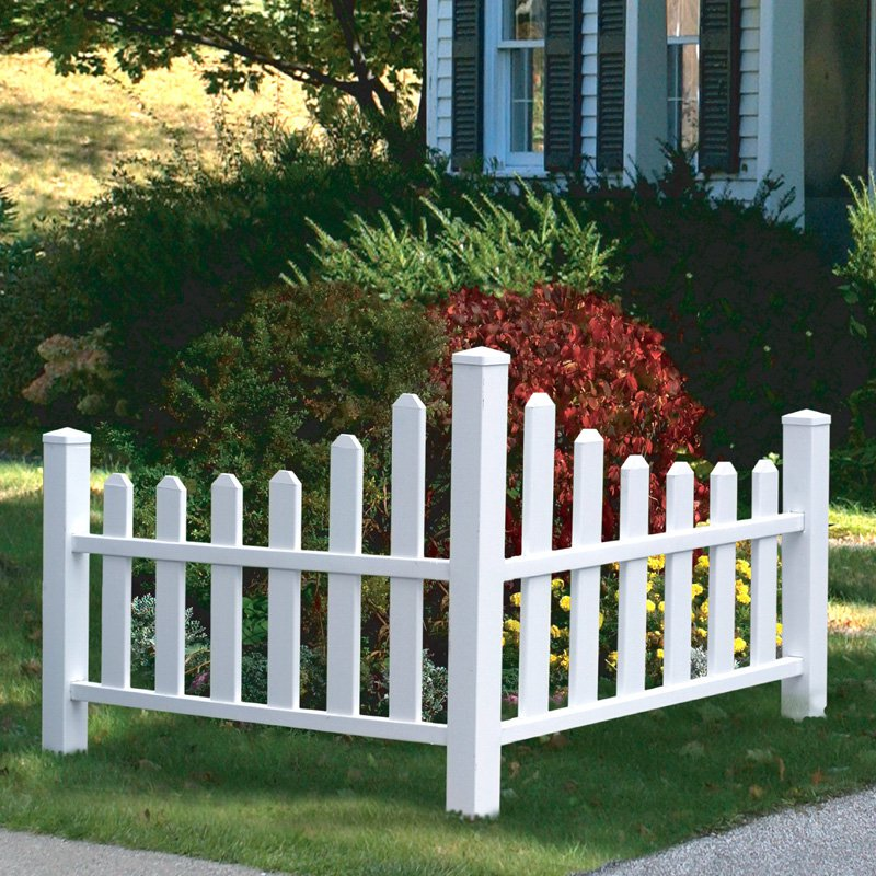 New England Arbors Country Corner Picket Fence