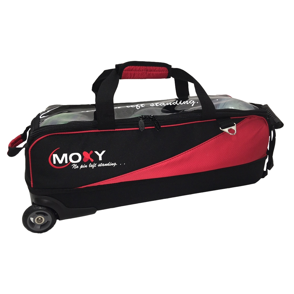 Moxy Slim Triple Roller Bowling Bag- Red/Black