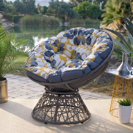 Belham Living Kambree All Weather Wicker Outdoor Papasan Chair with Cushion ()