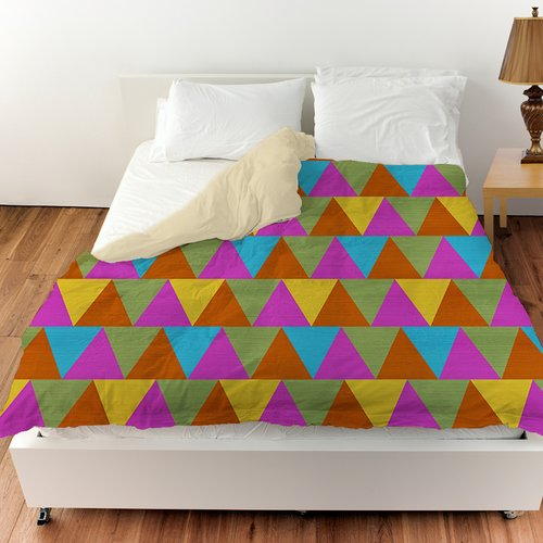 Manual Woodworkers & Weavers Triangles Duvet Cover