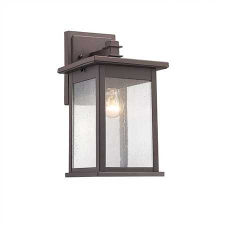 Half Wall Sconce 1 Light - CHLOE Lighting TRISTAN Transitional 1 Light Rubbed Bronze Outdoor Wall Sconce 12
