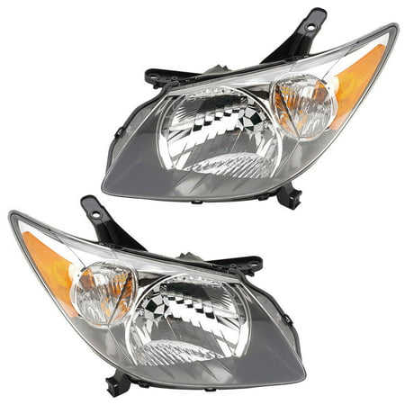 Pair New Left Right Headlight Embly For Pontiac Vibe 2003 2004