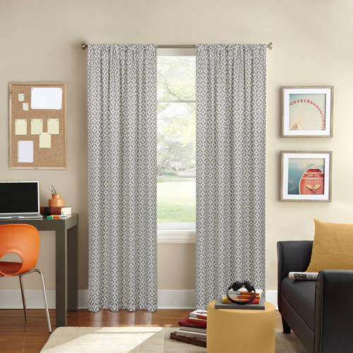 Colordrift LLC Better Homes and Gardens Circles and Diamonds Printed Window Curtain, Rod Pocket