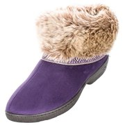 totes ISOTONER Size Medium Womens Low Cut Boot Slipper, Purple