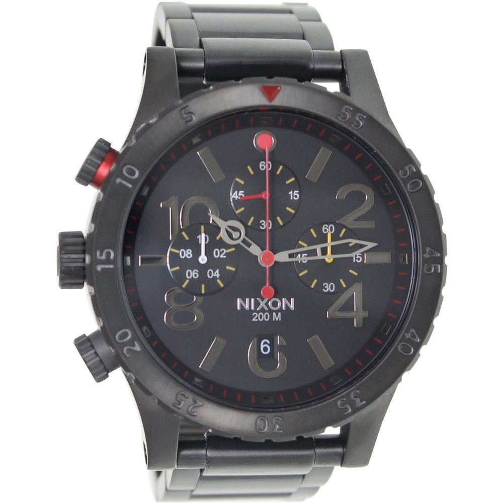 Nixon Men's 48-20 Chrono All-Black Watch, A4861320