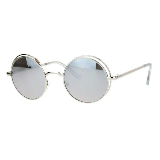 82659d7666b SA106 - SA106 Mirrored Mirror Round Circle Len Double Rim Sunglasses ...