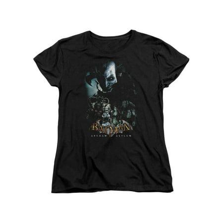Batman Arkham Asylum Video Game Insane Inmate Villains Women's T-Shirt Tee - Batman Villain List