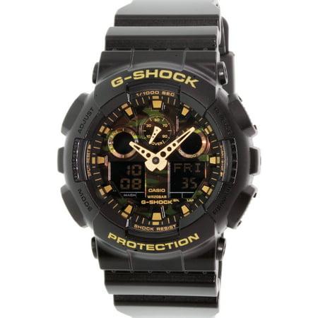 Black Rubber Watch - Casio Men's G-Shock GA100CF-1A9 Black Rubber Quartz Sport Watch
