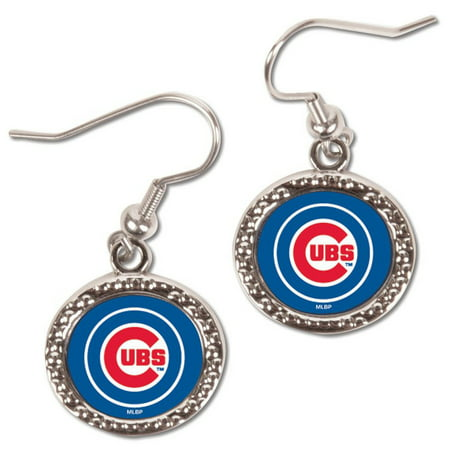 Chicago Bears Logo Earrings (Chicago Cubs WinCraft Women's Round Dangle Earrings - No Size)