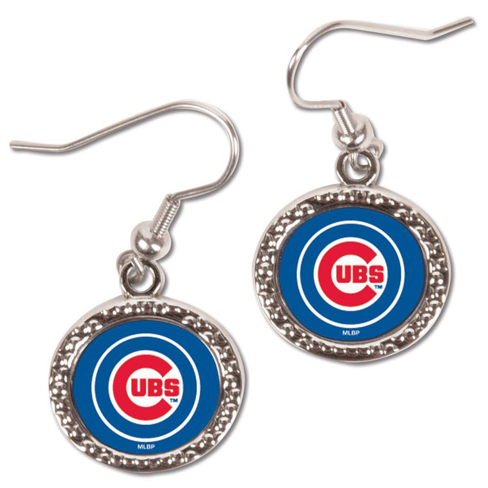 Chicago Cubs WinCraft Women's Round Dangle Earrings - No Size