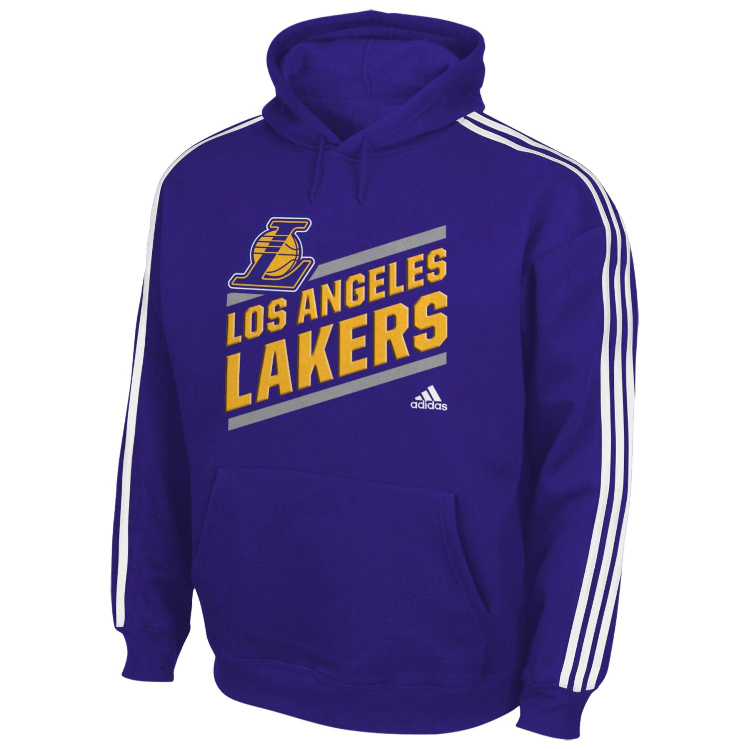 "Los Angeles Lakers Youth Adidas NBA ""Playbook Stripe"" Hooded Sweathshirt"