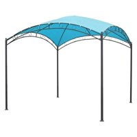 St. Kitts 3 Meter Square Dome Top Gazebo (38mm Steel Legs/19mm Cross Arch/180GSM Canopy)