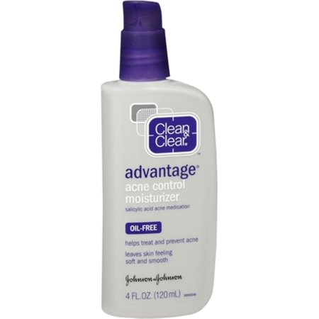 CLEAN & CLEAR ADVANTAGE Acne Control Moisturizer Oil-Free 4 oz (Pack of