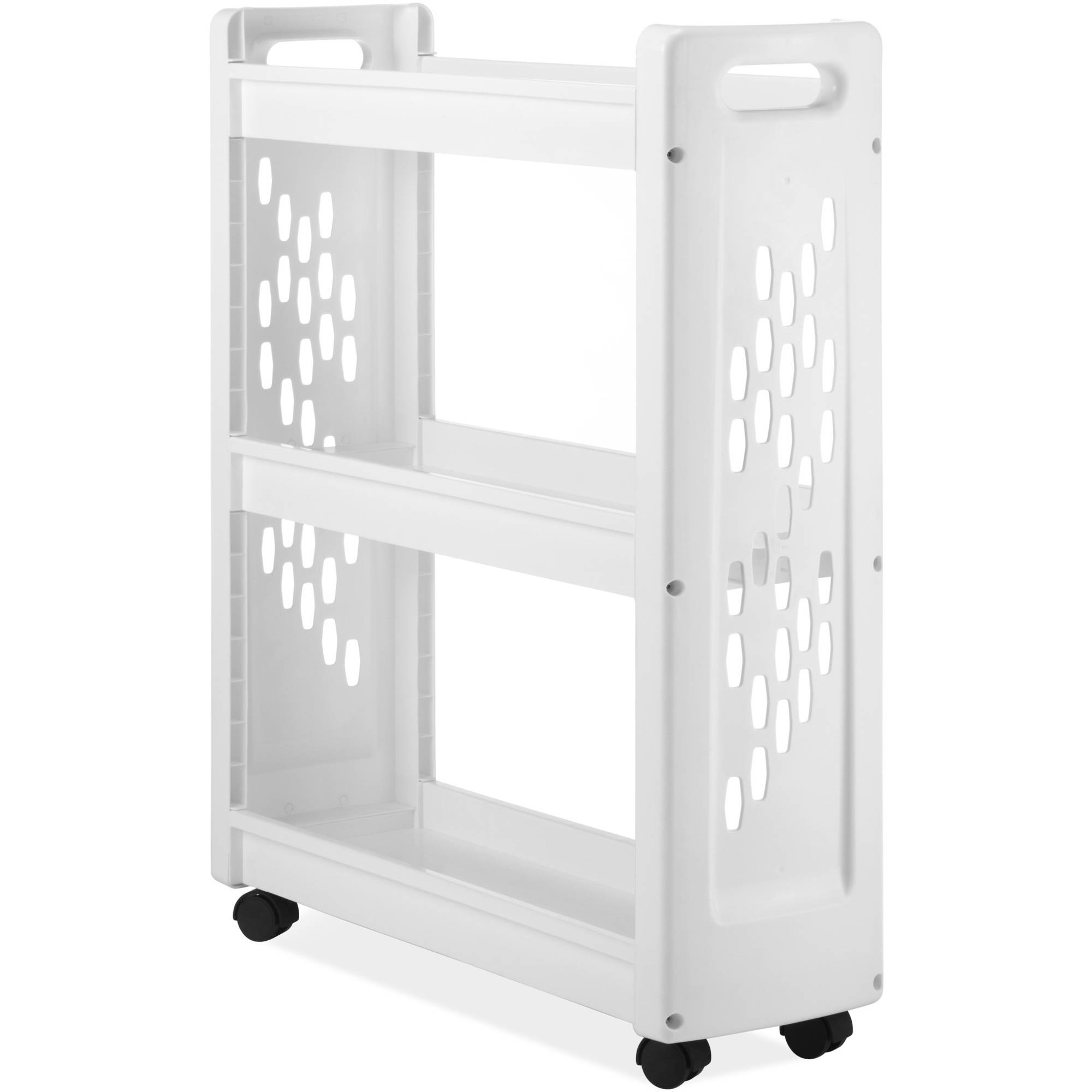 Whitmor 3 Tier Slim Laundry Cart White Walmart Com