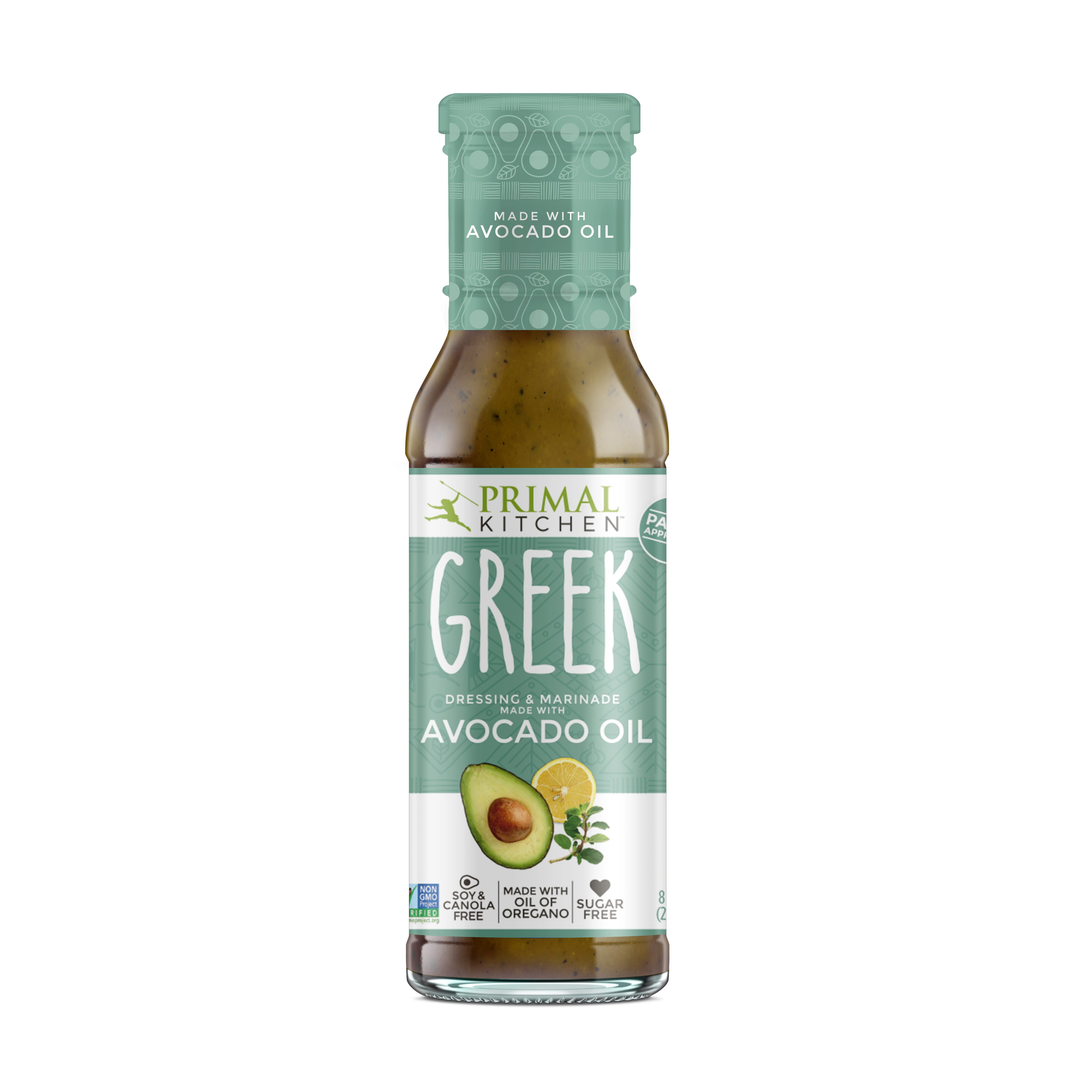 Primal Kitchen Greek Vinaigrette, With Avocado Oil, 8 Oz