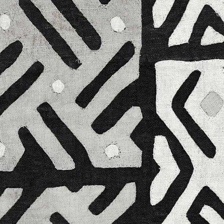 Kuba Cloth I Square II BW Poster Print by Wild Apple Portfolio