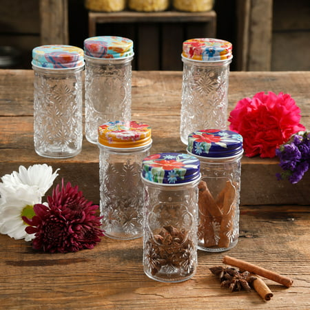 Fruit Storage Jar (The Pioneer Woman Floral 4.1-Inch Spice Jars, Set of 6)