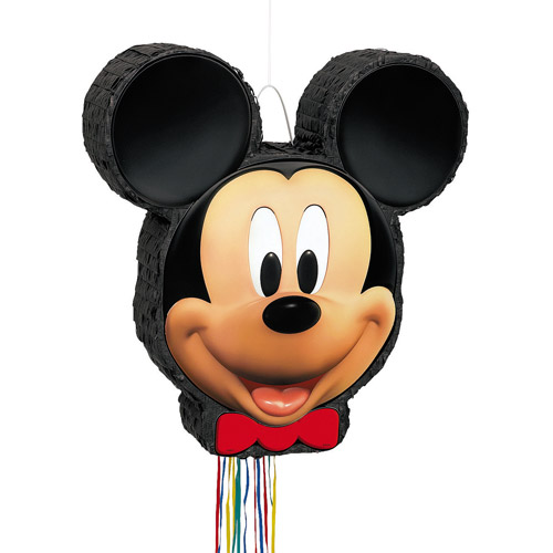 Mickey Mouse Pinata, Shaped Pull String