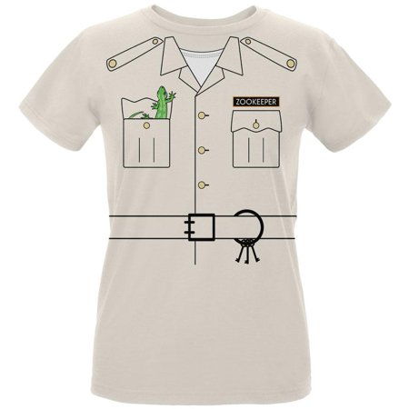 Halloween Zookeeper Costume Womens Organic T Shirt - Old Lady Halloween Costume Ideas