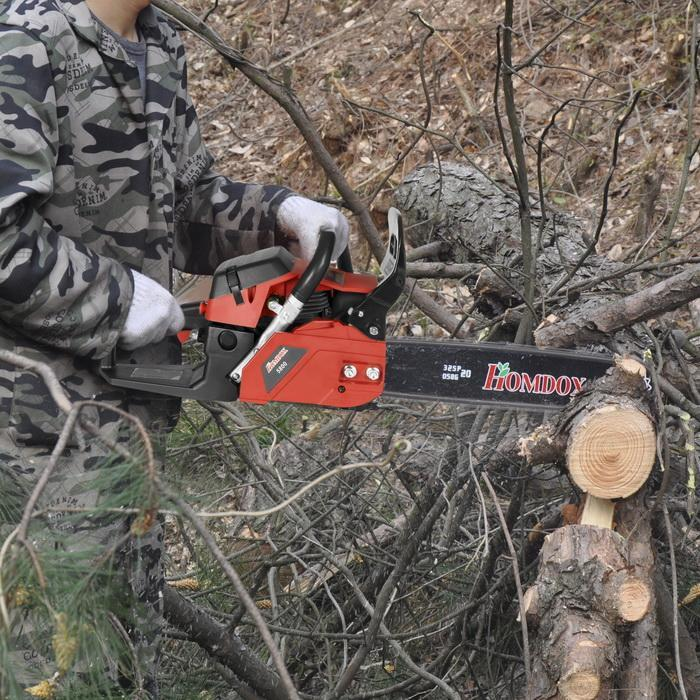"""58CC 20"""" Chainsaw Gas Powered Chain Saw, 2 Strokes With Chains, Bar Cover and Tool Kit by"""